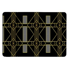 Simple Art Deco Style Art Pattern Samsung Galaxy Tab 8 9  P7300 Flip Case