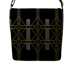 Simple Art Deco Style Art Pattern Flap Messenger Bag (l)