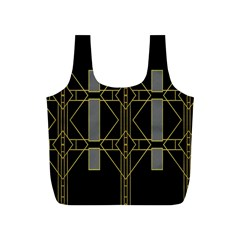 Simple Art Deco Style Art Pattern Full Print Recycle Bags (s)