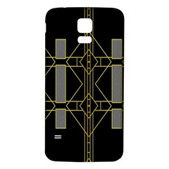 Simple Art Deco Style Art Pattern Samsung Galaxy S5 Back Case (white) by Nexatart