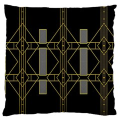 Simple Art Deco Style Art Pattern Large Flano Cushion Case (two Sides) by Nexatart