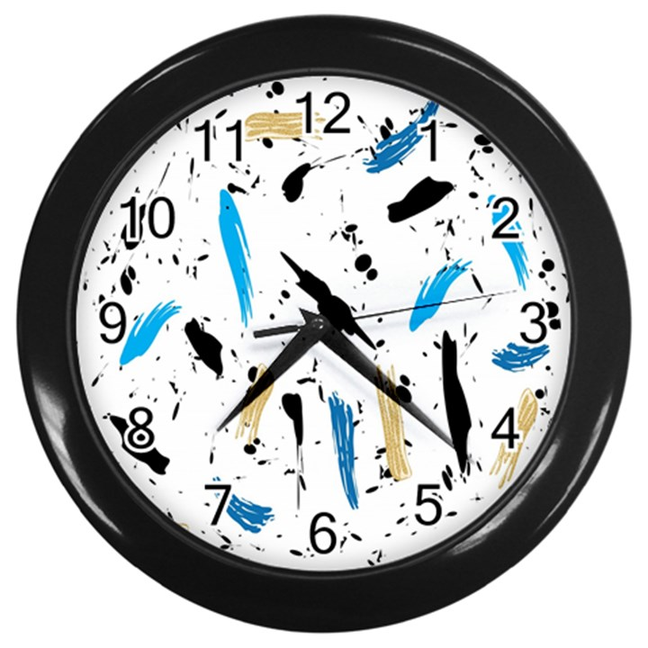 Abstract Image Image Of Multiple Colors Wall Clocks (Black)