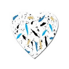 Abstract Image Image Of Multiple Colors Heart Magnet by Nexatart