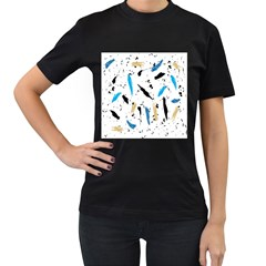 Abstract Image Image Of Multiple Colors Women s T Shirt (black) by Nexatart