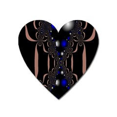 An Interesting Mix Of Blue And Other Colours Balls Heart Magnet by Nexatart