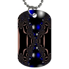 An Interesting Mix Of Blue And Other Colours Balls Dog Tag (one Side)