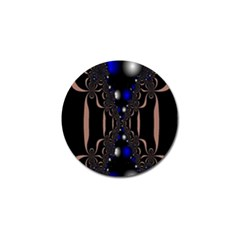 An Interesting Mix Of Blue And Other Colours Balls Golf Ball Marker by Nexatart