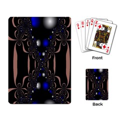 An Interesting Mix Of Blue And Other Colours Balls Playing Card by Nexatart