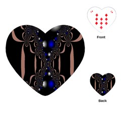 An Interesting Mix Of Blue And Other Colours Balls Playing Cards (heart)  by Nexatart