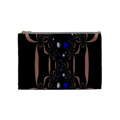 An Interesting Mix Of Blue And Other Colours Balls Cosmetic Bag (medium)  by Nexatart