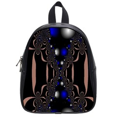 An Interesting Mix Of Blue And Other Colours Balls School Bags (small)