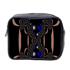 An Interesting Mix Of Blue And Other Colours Balls Mini Toiletries Bag 2 Side by Nexatart