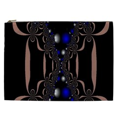 An Interesting Mix Of Blue And Other Colours Balls Cosmetic Bag (xxl)  by Nexatart