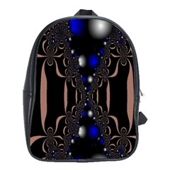 An Interesting Mix Of Blue And Other Colours Balls School Bags (xl)