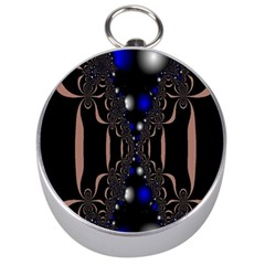 An Interesting Mix Of Blue And Other Colours Balls Silver Compasses by Nexatart