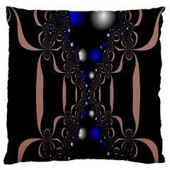 An Interesting Mix Of Blue And Other Colours Balls Large Flano Cushion Case (two Sides) by Nexatart