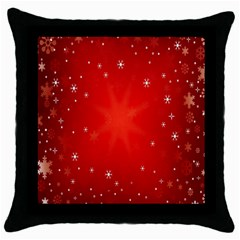 Red Holiday Background Red Abstract With Star Throw Pillow Case (black) by Nexatart
