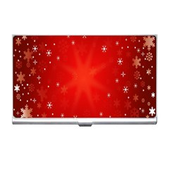 Red Holiday Background Red Abstract With Star Business Card Holders