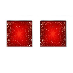 Red Holiday Background Red Abstract With Star Cufflinks (square) by Nexatart