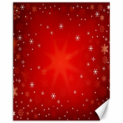 Red Holiday Background Red Abstract With Star Canvas 16  X 20