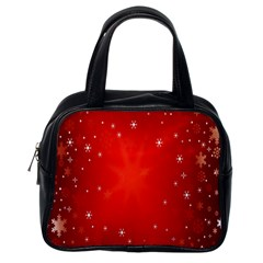 Red Holiday Background Red Abstract With Star Classic Handbags (one Side) by Nexatart