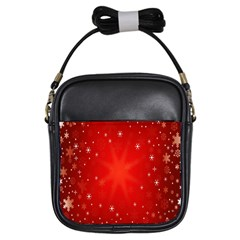 Red Holiday Background Red Abstract With Star Girls Sling Bags by Nexatart