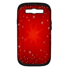 Red Holiday Background Red Abstract With Star Samsung Galaxy S Iii Hardshell Case (pc+silicone)