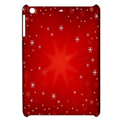 Red Holiday Background Red Abstract With Star Apple Ipad Mini Hardshell Case by Nexatart