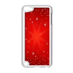 Red Holiday Background Red Abstract With Star Apple Ipod Touch 5 Case (white) by Nexatart