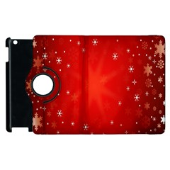 Red Holiday Background Red Abstract With Star Apple Ipad 3/4 Flip 360 Case by Nexatart