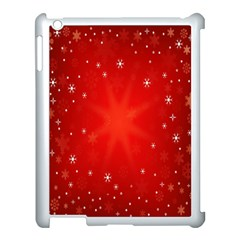 Red Holiday Background Red Abstract With Star Apple Ipad 3/4 Case (white) by Nexatart