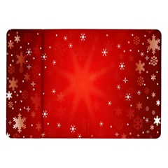 Red Holiday Background Red Abstract With Star Samsung Galaxy Tab 10 1  P7500 Flip Case