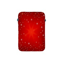 Red Holiday Background Red Abstract With Star Apple Ipad Mini Protective Soft Cases by Nexatart