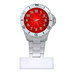 Red Holiday Background Red Abstract With Star Plastic Nurses Watch