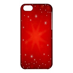 Red Holiday Background Red Abstract With Star Apple Iphone 5c Hardshell Case by Nexatart