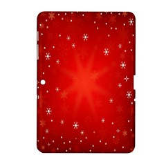 Red Holiday Background Red Abstract With Star Samsung Galaxy Tab 2 (10 1 ) P5100 Hardshell Case