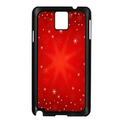 Red Holiday Background Red Abstract With Star Samsung Galaxy Note 3 N9005 Case (black) by Nexatart