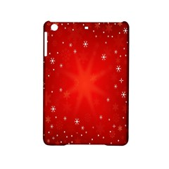 Red Holiday Background Red Abstract With Star Ipad Mini 2 Hardshell Cases by Nexatart