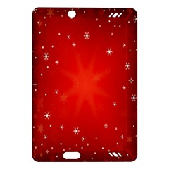 Red Holiday Background Red Abstract With Star Amazon Kindle Fire Hd (2013) Hardshell Case