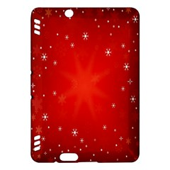 Red Holiday Background Red Abstract With Star Kindle Fire Hdx Hardshell Case by Nexatart