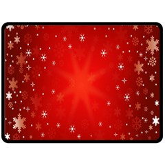Red Holiday Background Red Abstract With Star Double Sided Fleece Blanket (large)  by Nexatart
