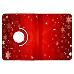 Red Holiday Background Red Abstract With Star Kindle Fire Hdx Flip 360 Case by Nexatart