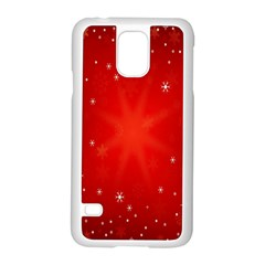 Red Holiday Background Red Abstract With Star Samsung Galaxy S5 Case (white)