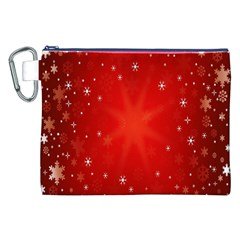 Red Holiday Background Red Abstract With Star Canvas Cosmetic Bag (xxl) by Nexatart