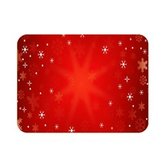 Red Holiday Background Red Abstract With Star Double Sided Flano Blanket (mini)  by Nexatart