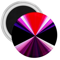 Red And Purple Triangles Abstract Pattern Background 3  Magnets by Nexatart