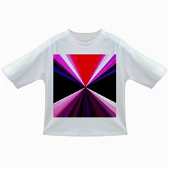 Red And Purple Triangles Abstract Pattern Background Infant/toddler T Shirts