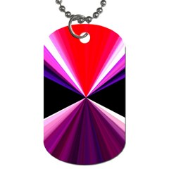 Red And Purple Triangles Abstract Pattern Background Dog Tag (one Side)