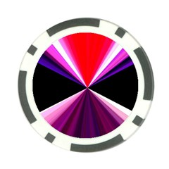 Red And Purple Triangles Abstract Pattern Background Poker Chip Card Guard (10 Pack)