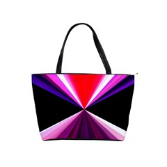 Red And Purple Triangles Abstract Pattern Background Shoulder Handbags by Nexatart
